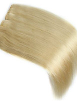 Human Hair Weft 2 Pcs/Package Straight 100% Indian Remy Hair Weave Extensions #613 Bleach Blonde Human Hair Weft Hair