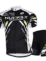 Deportes Ciclismo Tops / Prendas de abajo Hombres Bicicleta Transpirable / Elástico / Reductor del Sudor Mangas cortas Alta elasticidad