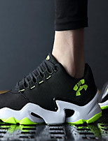Men's Shoes Tulle Athletic Sneakers Athletic Basketball Flat Heel Lace-up Black / Blue / Light Green