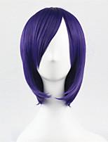 peluca de seda Europa y los Estados Unidos un coseno de color púrpura peluca bobo alta temperatura de 10 pulgadas de pelo corto y recto