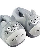 Kigurumi Pajamas Cat / Totoro Shoes / Slippers Halloween Animal Sleepwear Gray Solid Coral fleece Slippers UnisexHalloween / Christmas /