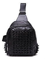 Women-Casual-Sheepskin-Shoulder Bag-Black
