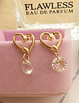 Earring Heart Drop Earrings Jewelry Women Fashion Party / Daily Alloy 1 pair Gold