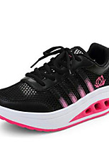 Women's Shoes Shake Shoes Synthetic  Comfort Fashion Sneakers Casual Black/White/Pink