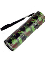 Camouflage 9LED White Light Flashlight Camping Lamp (3XAAA)
