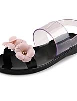 Women's Shoes PVC Spring / Summer / Fall Jelly Sandals / Flats Casual Flat Heel Flower