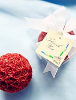 Stearinljus / Stearinljus hållare(Röd / Vit,Rostfritt Stål) - medBeach Theme / Garden Theme / Vegas Theme / Asian Theme / Floral Theme /
