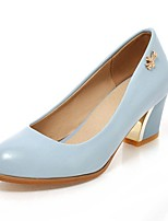Women's Shoes PU Summer / Fall Heels / Round Toe Heels Office & Career / Casual Chunky Heel Others Black / Blue /