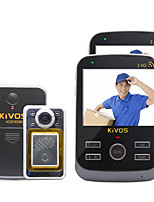 KiVOS Intelligent Wireless Doorbell Peephole Doorbell One Household One With Two Monitoring Intercom Camera