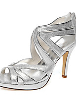 Women wedding shoes & night peep toe platform sandals wedding party/color/silver/ointment