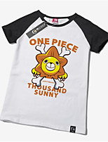 Inspired by One Piece Monkey D. Luffy Anime Cosplay Costumes Cosplay Tops/Bottoms Print White Short Sleeve T-shirt