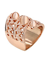 Ring Fashion Party / Daily / Casual Jewelry Alloy / Zircon / Opal Women Band Rings 1pc,8 Gold