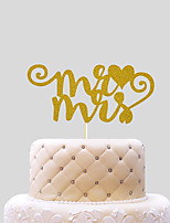 mr&mrs with heart Cake Topper