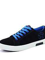 Men's Sneakers Spring / Fall Styles / Round Toe Suede Athletic Flat Heel Lace-up / Others Blue / Green / Red Sneaker