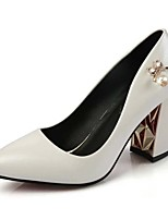 Women's Shoes Leatherette Spring / Summer / Fall Heels / Pointed Toe Heels Office & Career /  Casual Chunky HeelMetallic