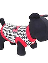 katten / honden T-shirt Rood Zomer Flora / Botanisch Modieus, Dog Clothes / Dog Clothing-Other