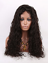 16-26 Inch Natural Black Color Curly Lace Wig Brazilian Virgin Human Hair Lace Front Wig With Baby Hair