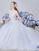 Ball Gown Wedding Dress Court Train Sweetheart Tulle with Beading