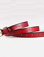 Women Microfiber leather Waist Belt,Vintage / Party / Work / Casual Alloy P3D1P208