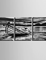 E-HOME® Stretched Canvas Art Lake Stop Decoration Painting  Set Of 3