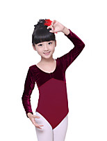 Ballet Leotards Children's Training Cotton / Velvet Ruched 1 Piece Kid's Dance Costumes