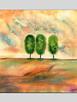 Hånd-malede Blomstret/Botanisk Moderne,Et Panel Canvas Hang-Painted Oliemaleri