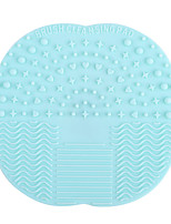 Silicone Wash Mat Makeup Brush Clean Scrubbers Silicone Sucker Wash Clean Pad Pad Beauty Makeup Tools Color Random