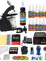 Solong Tattoo Beginner Tattoo Kit 1 Pro Machine Guns Power Supply Needle Grips Tips US Dispatch