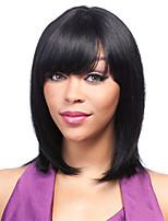 couleur noire cosplay perruques synthétiques perruques droites bon marché pour les femmes noires perruques
