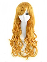 Cosplay Wigs Blonde Color Synthetic Cheap Wave Wigs For Black Women Fashion Wigs