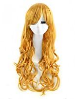 cosplay de la peluca de color rubio pelucas sintéticas baratas de onda para las mujeres negras pelucas de la manera
