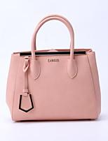 CHROIS Designer Fashion Ladies Pu Handbags Fashion Women Pink Plain Color Shoulder Bags