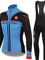 KEIYUEM®Others Winter Thermal Fleece Long Sleeve Cycling Jersey+Bib Tights Ropa Ciclismo Cycling Clothing Suits #w1