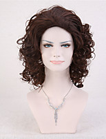 Capless Brown Color High Quality Short Natural Curly Synthetic Wig