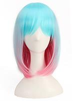 Light Blue Mixed Pink 35CM Short Length Cheap Hair Wigs Harajuku Lolita Wig Natural Charming Style