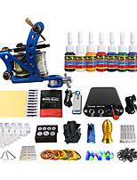 pigment de couleur équipement du kit machine à tatouer bobine professionnelle (couleur de la poignée de livraison aléatoires)