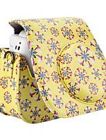 PU-Leder Blumenmuster Tasche für Fujifilm Instax mini 8 Instant-Filmkamera, gelb