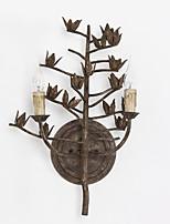 rouille cru lampe murale classique en métal campagne amercian décorer pour le mur de lumière indooor / hôtel