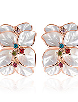 Jewelry Women Earrings Bijoux 18K Rose Gold Plate Elements Flower Earring