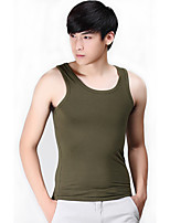 Men's Solid Casual / Sport Tank Tops,Cotton / Spandex Sleeveless-Blue / Green / Gray