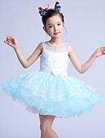 A-line Short/Mini Flower Girl Dress-Cotton / Organza / Satin Sleeveless