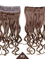 60cm resistente al calor cosplay sintética del pelo # 6 largas onduladas mujeres femeninas sintéticas del pelo rizado del pelo atractiva