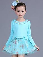 Girl's Blue / Yellow Blouse,Print Cotton / Rayon Spring / Fall