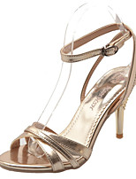 Women's Shoes Patent Leather Stiletto Heel Heels / Styles / Open Toe Sandals Office & Career / Party & Evening / Silver