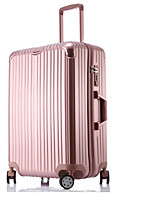 Unisex Outdoor PVC Luggage Purple / Blue / Rose Gold / Silver 24Inch