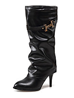 Women's Shoes Snow Boots Boots Office & Career / Party & Evening / Casual Stiletto Heel Buckle Black / Red / White/T737