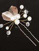 Dame Perle Lyserød / Krystal Medaljon-Bryllup / Speciel Lejlighed Hårnål / Hair Stick 1 Stykke Hvid Anderledes 20