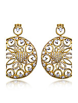 Flowers design Drop Earrings 18K Gold plated and Platinum plated & White Cubic Zircon Wedding Jewelery Drop Earring
