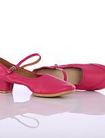 Chaussures de danse(Noir / Rouge / Multicolore) -Personnalisables-Talon Bas-Similicuir-Latine / Baskets de Danse