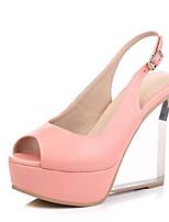 Women's Shoes Calf Hair Wedges / Peep Toe / Platform Sandals Wedding / Party & Evening / Dress Platform Buckle